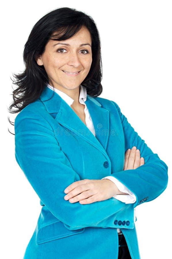 Donna attraente ed elegante di affari fotografia stock libera da diritti