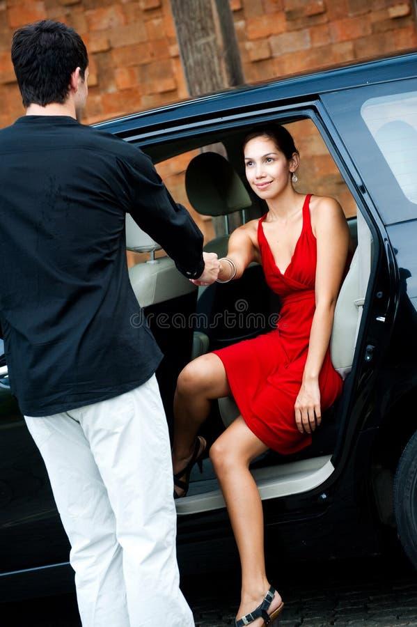 Donna in automobile fotografia stock libera da diritti