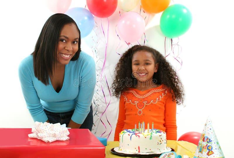 Donna, bambino, compleanno fotografia stock