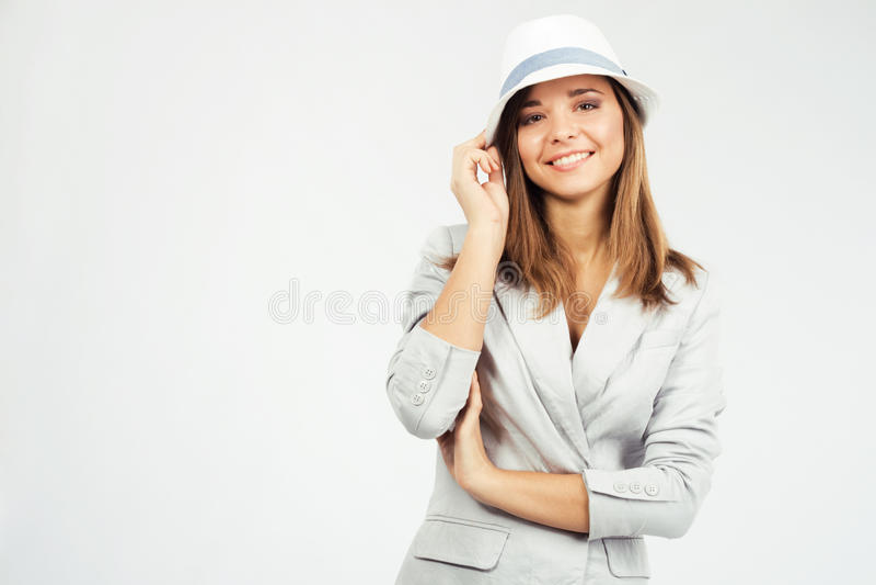 Donna bella in vestiti eleganti immagine stock libera da diritti
