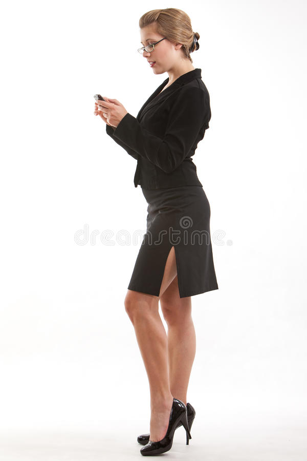 Download Donna Bionda Caucasica Di Affari Di Anni '20 Immagine Stock - Immagine: 19035377