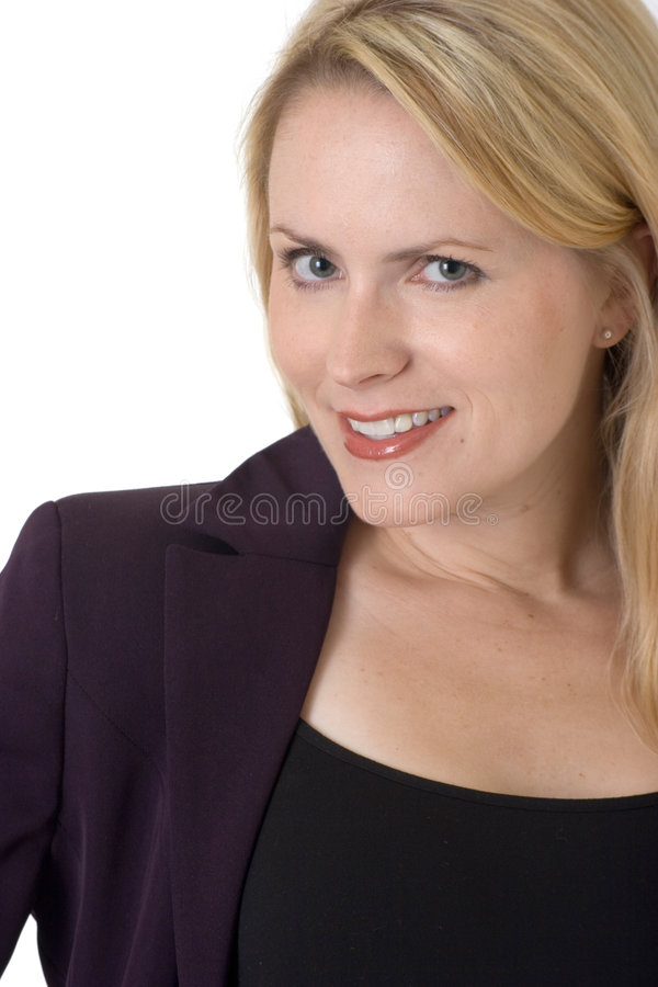 Donna bionda di affari immagini stock libere da diritti