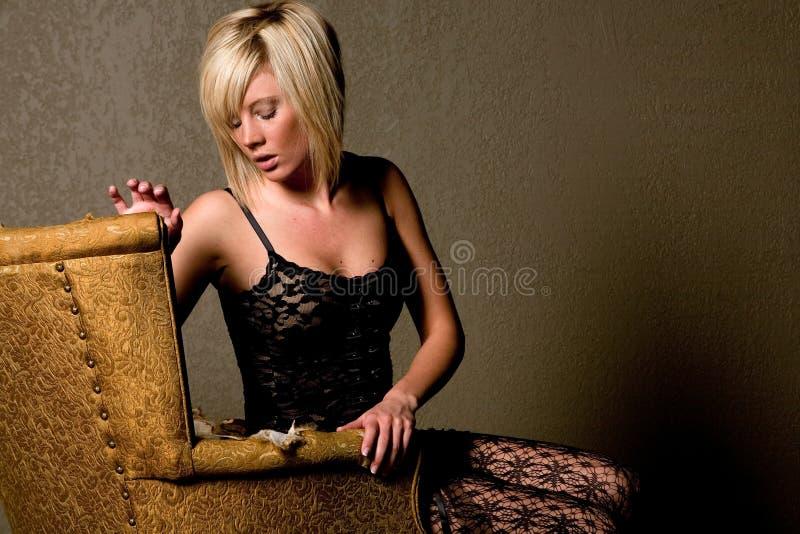 Donna bionda sexy fotografia stock libera da diritti