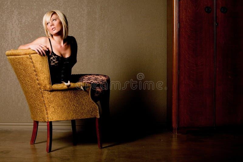Donna bionda sexy immagine stock libera da diritti