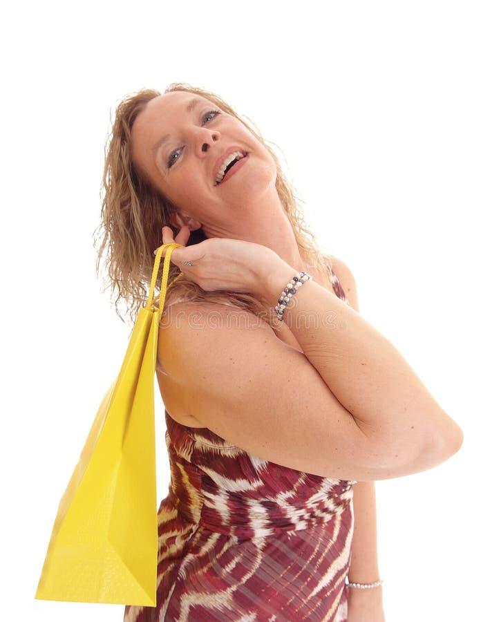 Donna bionda in vestito da estate immagine stock libera da diritti