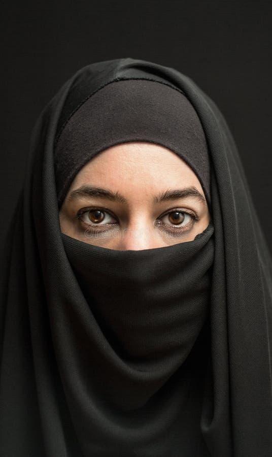 Donna in burka fotografia stock libera da diritti