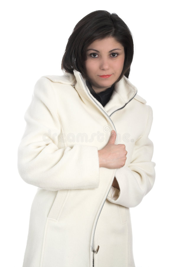 Donna in cappotto fotografia stock