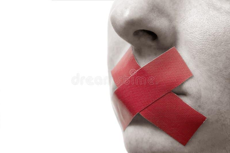Donna censurata con la burocrazia o immagine stock