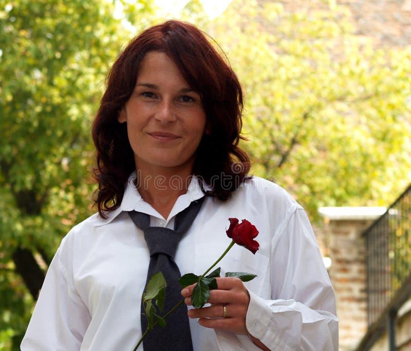 Donna Charming vestita straordinaria immagine stock