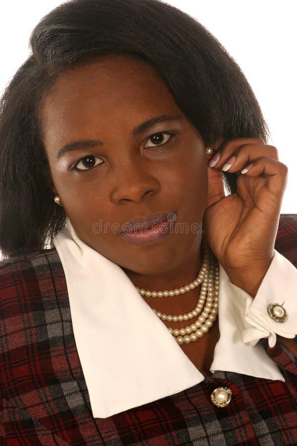 Donna che ascolta voi fotografia stock