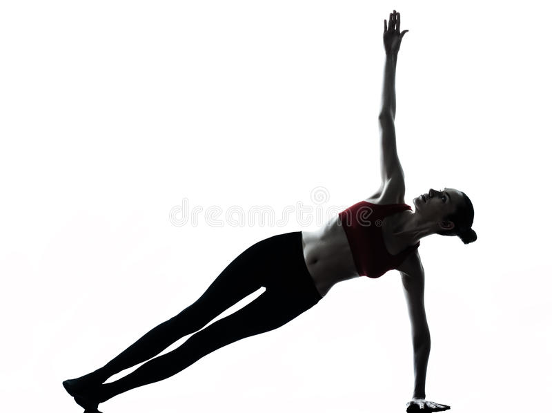 Donna che esercita yoga fotografie stock