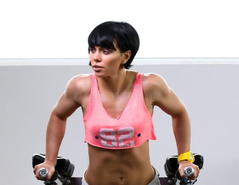 Donna che fa exersice atletico immagine stock libera da diritti