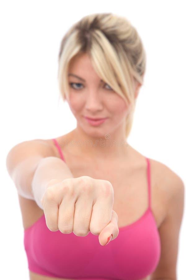 Donna che fa forma fisica immagini stock