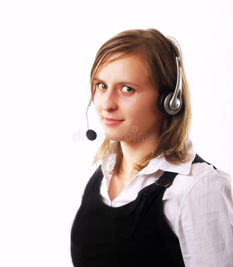 Donna che fa una chiamata di telefono fotografia stock