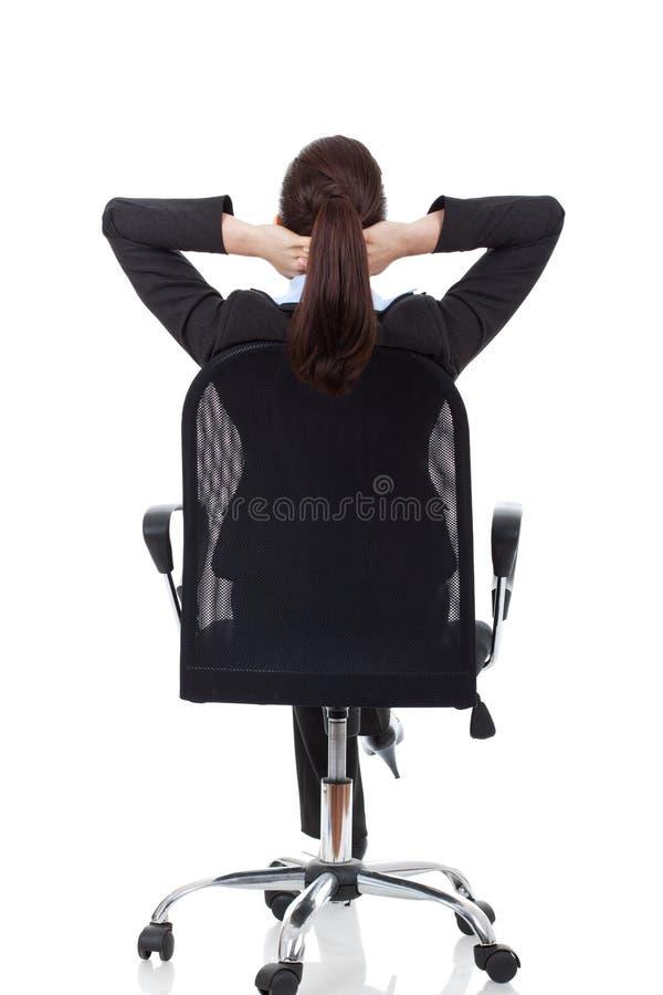 Donna che sogna sulla presidenza immagini stock libere da diritti