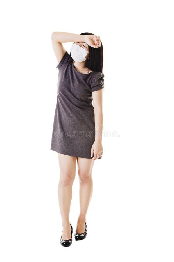 Donna cinese ammalata. immagini stock
