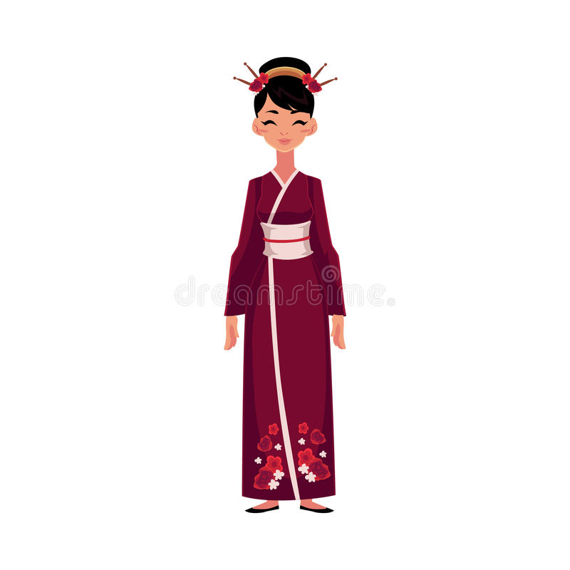 Donna cinese in costume nazionale tradizionale vestito for Vestito tradizionale giapponese femminile