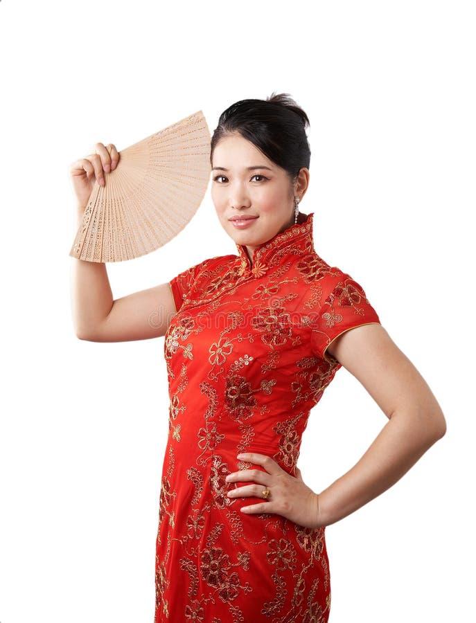 Donna cinese di classe fotografia stock