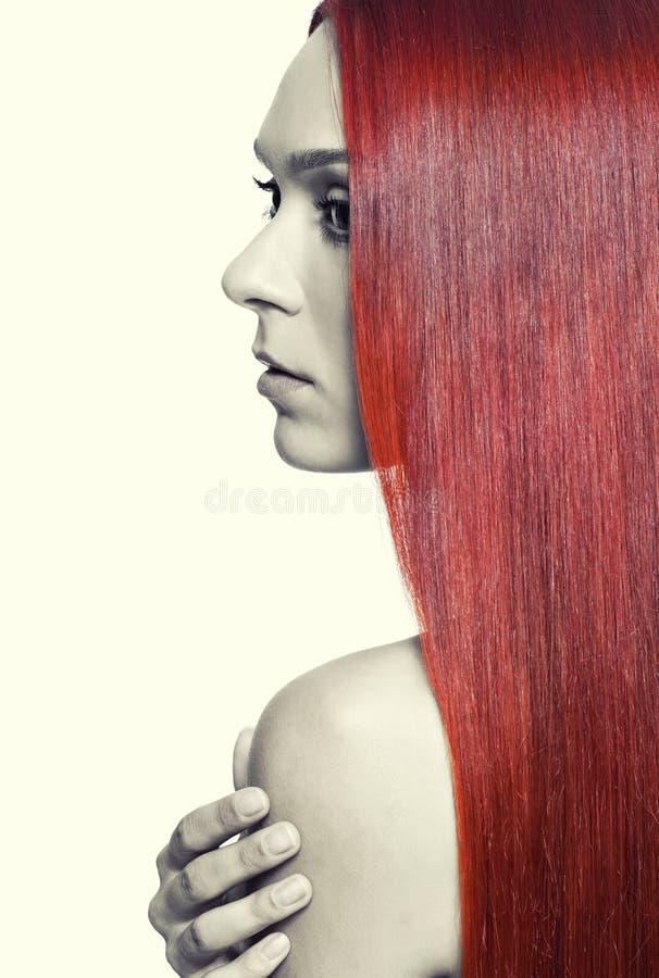 Donna Con Capelli Rossi Lunghi Immagine Stock - Immagine ...