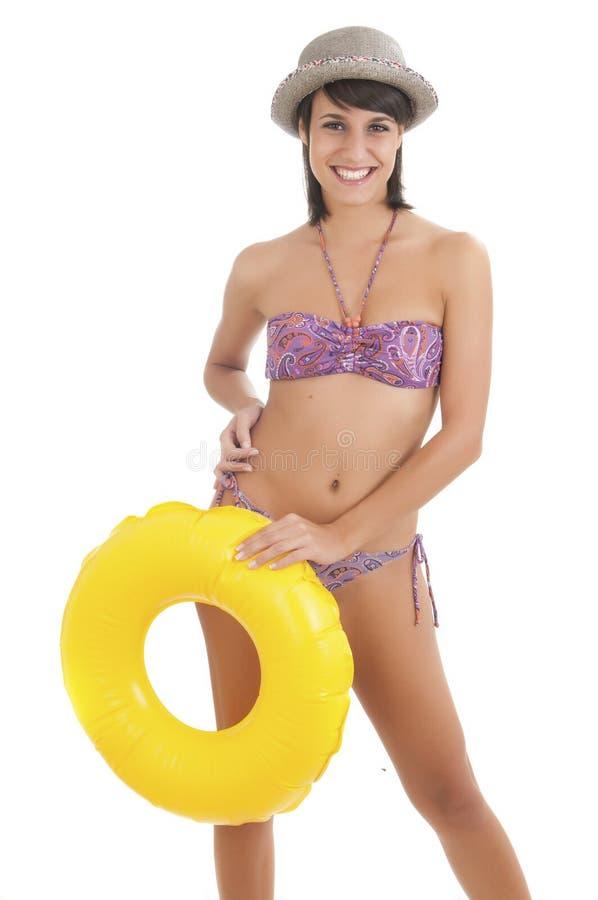 Donna con costumi da bagno nel fondo bianco immagine stock immagine di cute ragazza 33161561 - Costumi da bagno ragazza ...