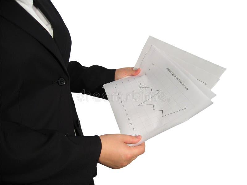 Donna con il diagramma immagini stock libere da diritti