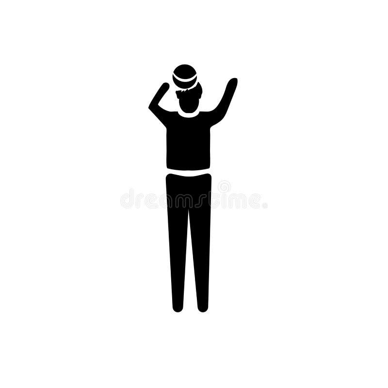 Donna con il vettore dell'icona di idea isolata su fondo bianco, donna con il segno di idea, illustrazioni di affari illustrazione vettoriale