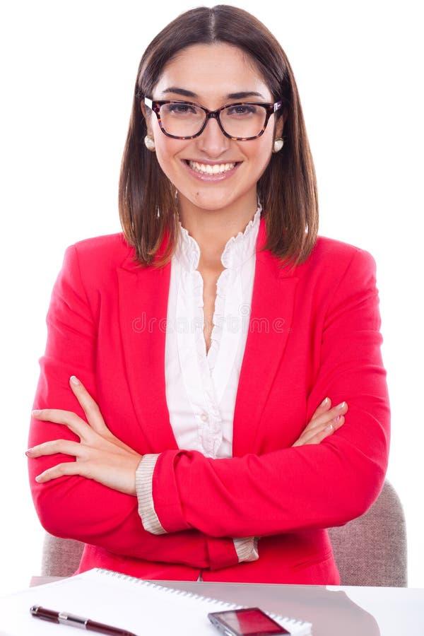 Donna con l'espressione di fiducia e allegro immagini stock