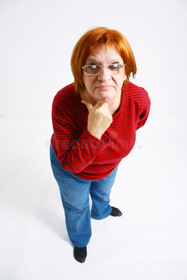 Donna con la domanda fotografie stock