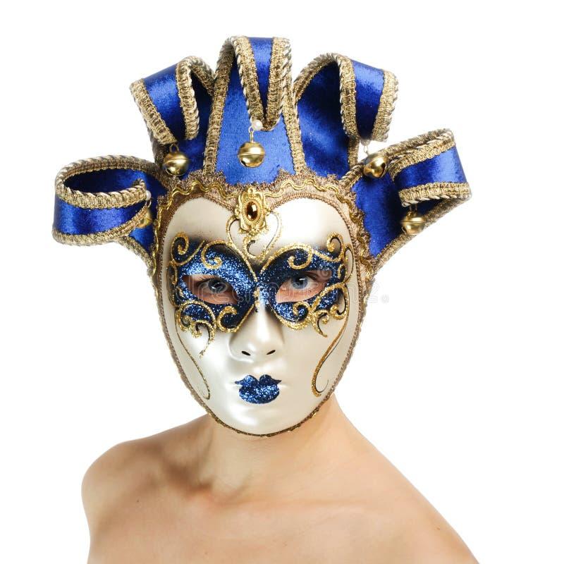 Donna con la mascherina di carnevale immagine stock