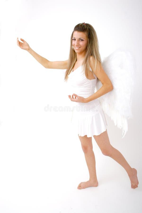 Donna con le ali (pieno-corpo) 4 fotografia stock