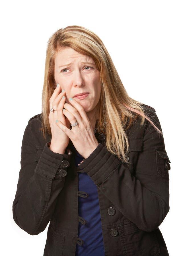 Donna con mal di denti immagini stock libere da diritti