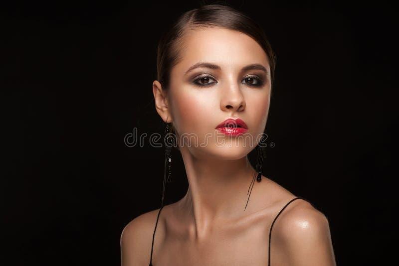 Donna con trucco fotografie stock libere da diritti