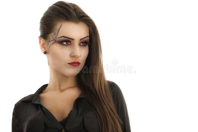 Donna con trucco creativo. Bellezza. Halloween fotografia stock