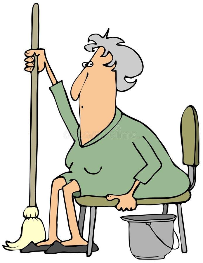 Donna con una zazzera illustrazione vettoriale