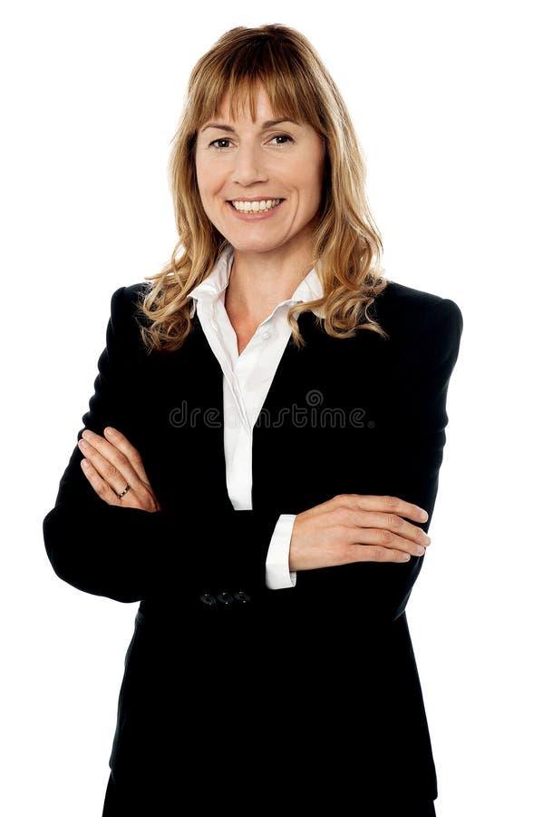 Donna corporativa sorridente sicura fotografia stock