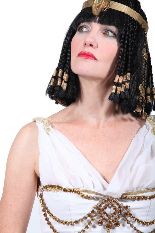 Donna in costume della Cleopatra fotografia stock libera da diritti
