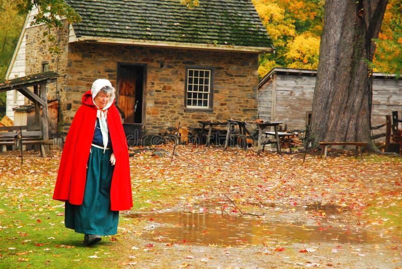 Donna in costume di periodo fotografie stock libere da diritti