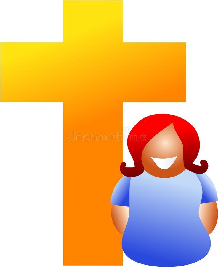 Donna cristiana illustrazione di stock