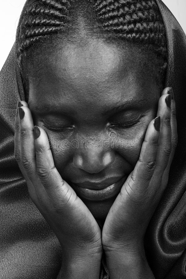 Donna cristiana africana fotografie stock libere da diritti