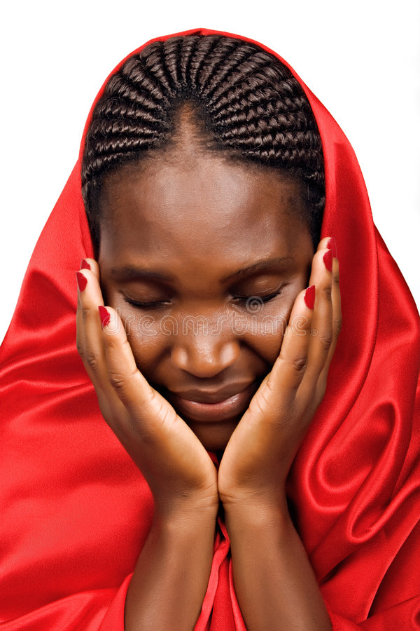 Donna cristiana africana immagini stock libere da diritti