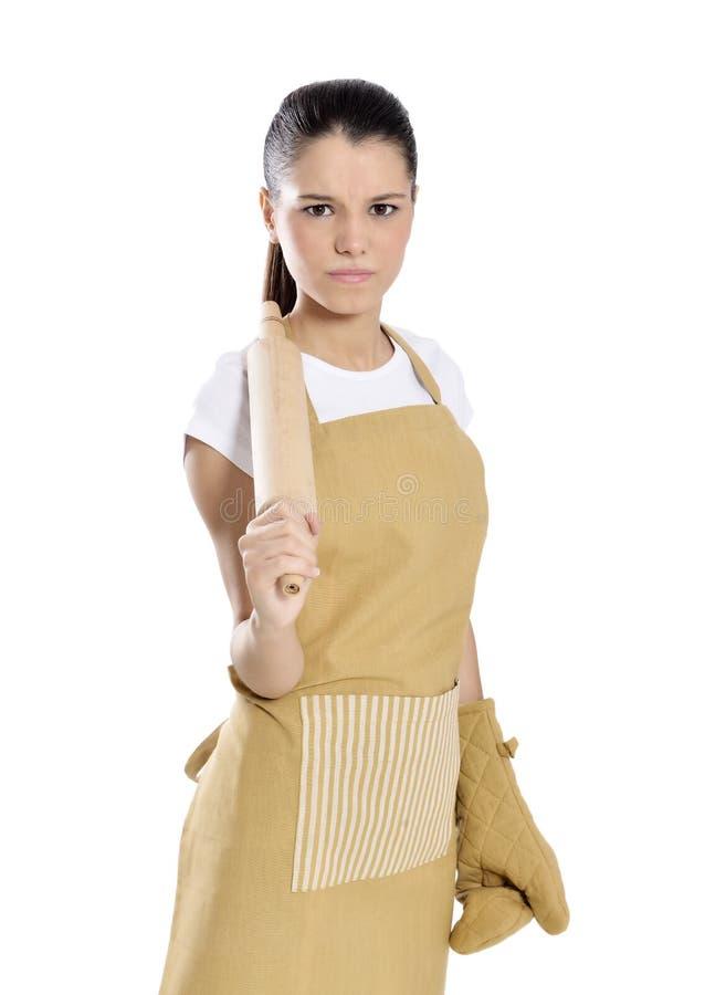 Donna cuoco unico/del panettiere fotografia stock
