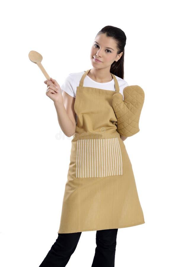 Donna cuoco unico/del panettiere fotografia stock libera da diritti