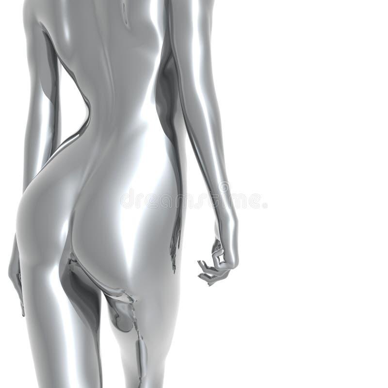 donna d'argento 3D royalty illustrazione gratis