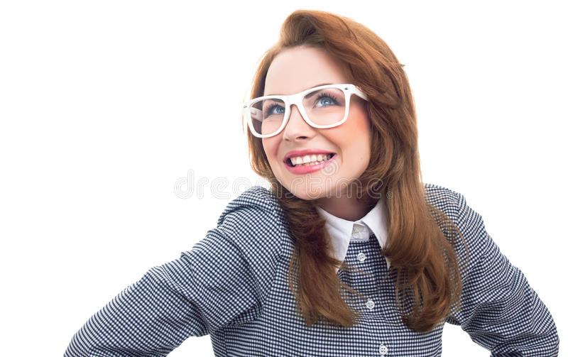 Donna d'avanguardia del primo piano fotografia stock