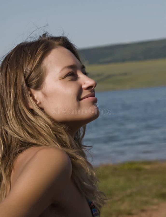 Donna da acqua fotografie stock