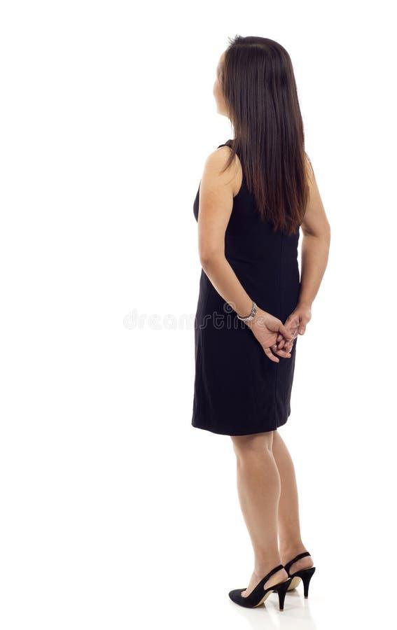 Donna dalla parte posteriore immagine stock libera da diritti