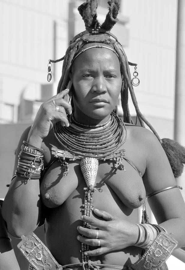 donna dalla tribù di Himba fotografia stock