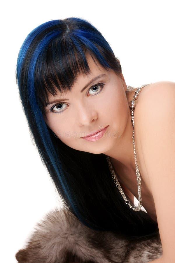 Donna Dark-haired immagini stock