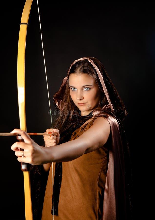 Donna del Archer fotografia stock libera da diritti