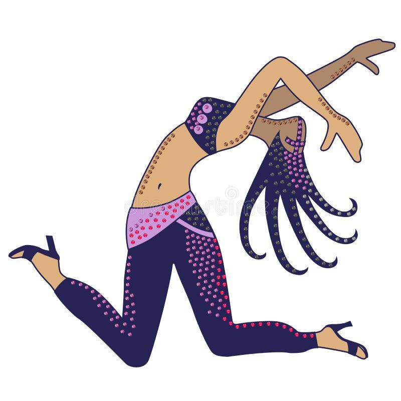 Donna del ballerino illustrazione di stock